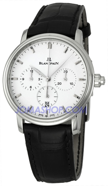 Blancpain Villeret Single Pusher Mens Watch 6185-1127-55B