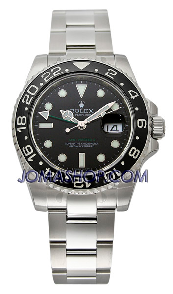 Rolex Oyster Perpetual Date GMT-Master II Mens Watch 116710-BKSO