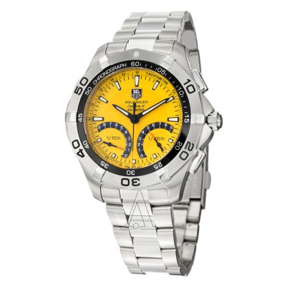 Tag Heuer Aquaracer yellow dial 300m water resistance