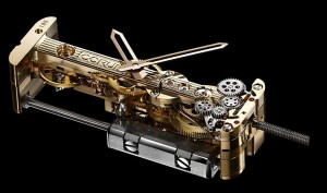 Corum golden bridge movement front