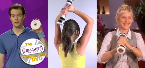 shake weight collage